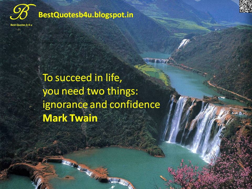 Latest English best quotes about Confidence - Nice Thoughts sayings and inspirations from Mark Twain -  with Nice images and HD Wallpapers