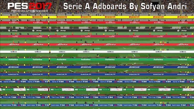PES 2017 Seria A Adboard Pack dari Sofyan Andri