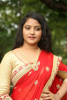 Akshara in Red Saree Golden Choli at LV Movie Makers Production No 1 Movie Opening ~  Exclusive 067.JPG