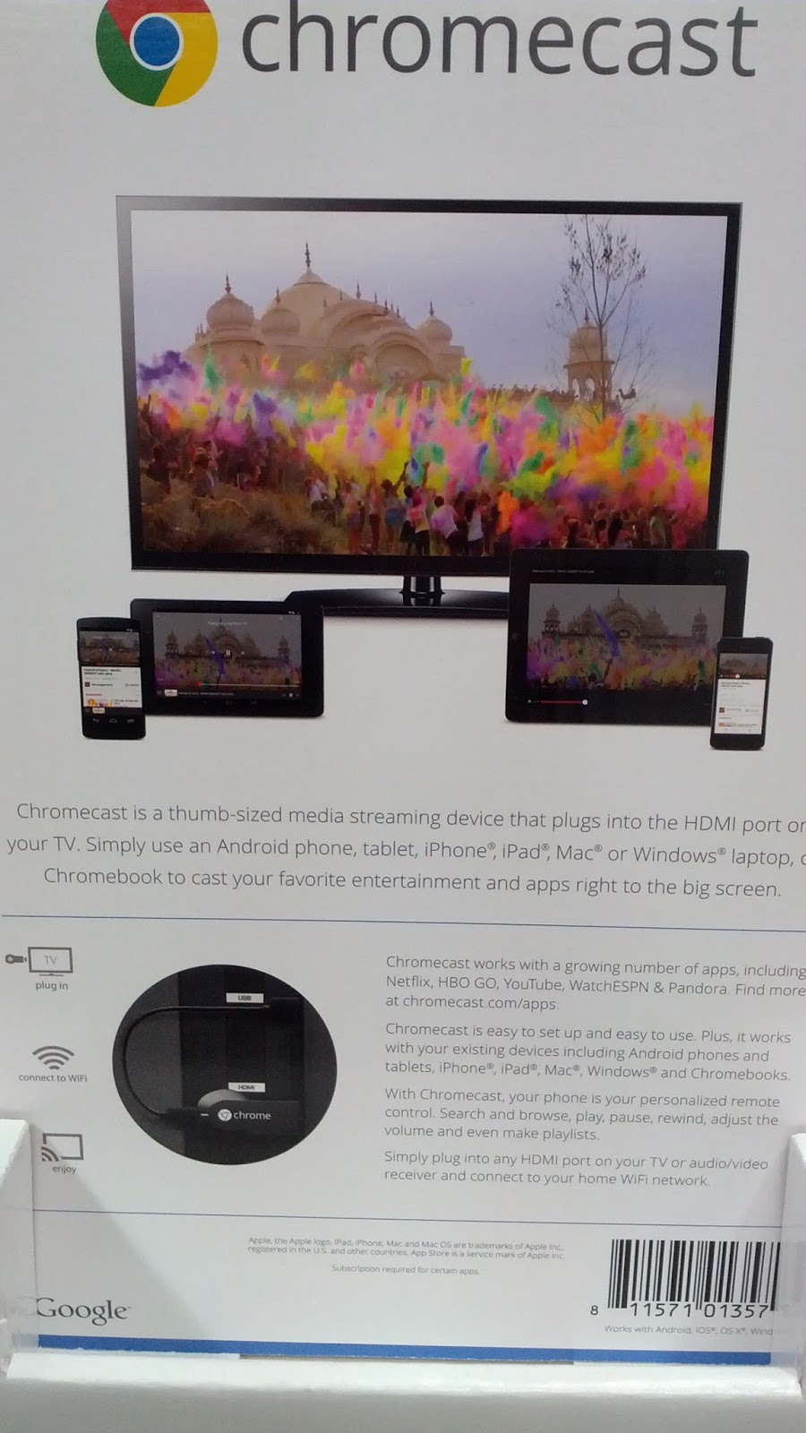 Google Chromecast with $10 Google Play Credit | Costco Weekender