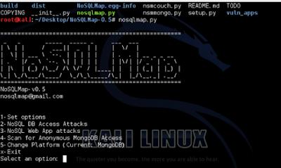 NoSQLMap Tool - Alat exploit otomatis suatu database