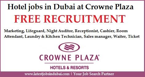 Hotel jobs in Dubai at Crowne Plaza