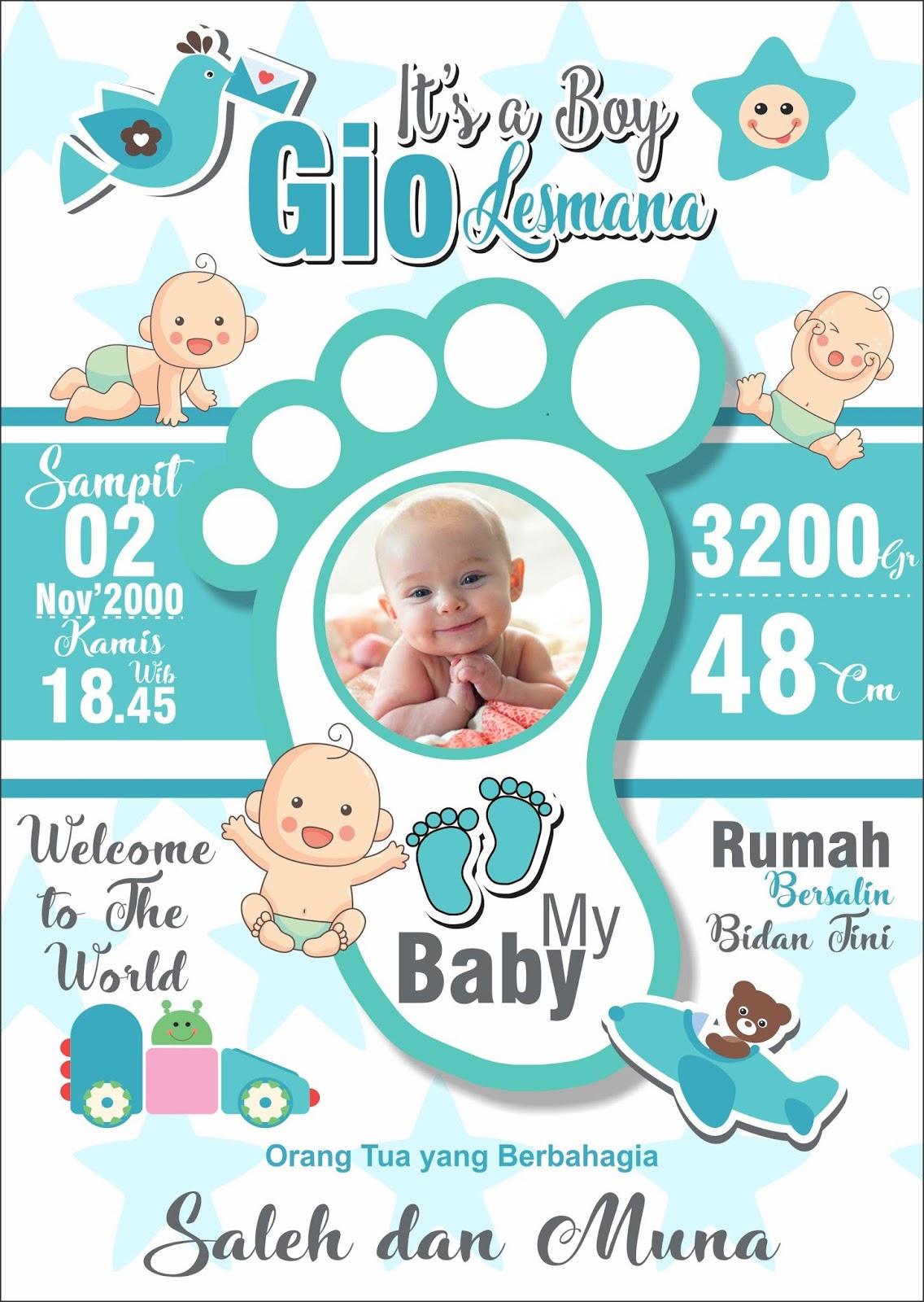 Desain Banner Bayi Baru Lahir Cdr - desain spanduk kreatif