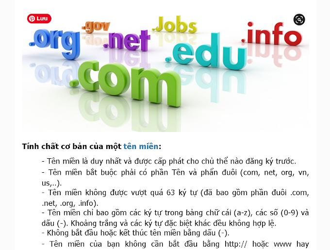 Nguyên tắt đăng ký tên miền domain