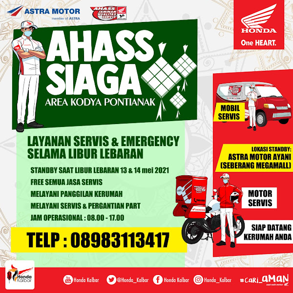 """""""AHASS SIAGA"""" Solusi Praktis Service Motor di Hari Raya"""