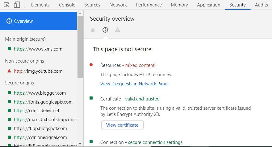 Developer Tools di Google Chrome