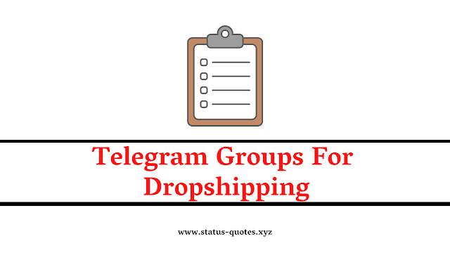126+ Telegram Group For Dropshipping