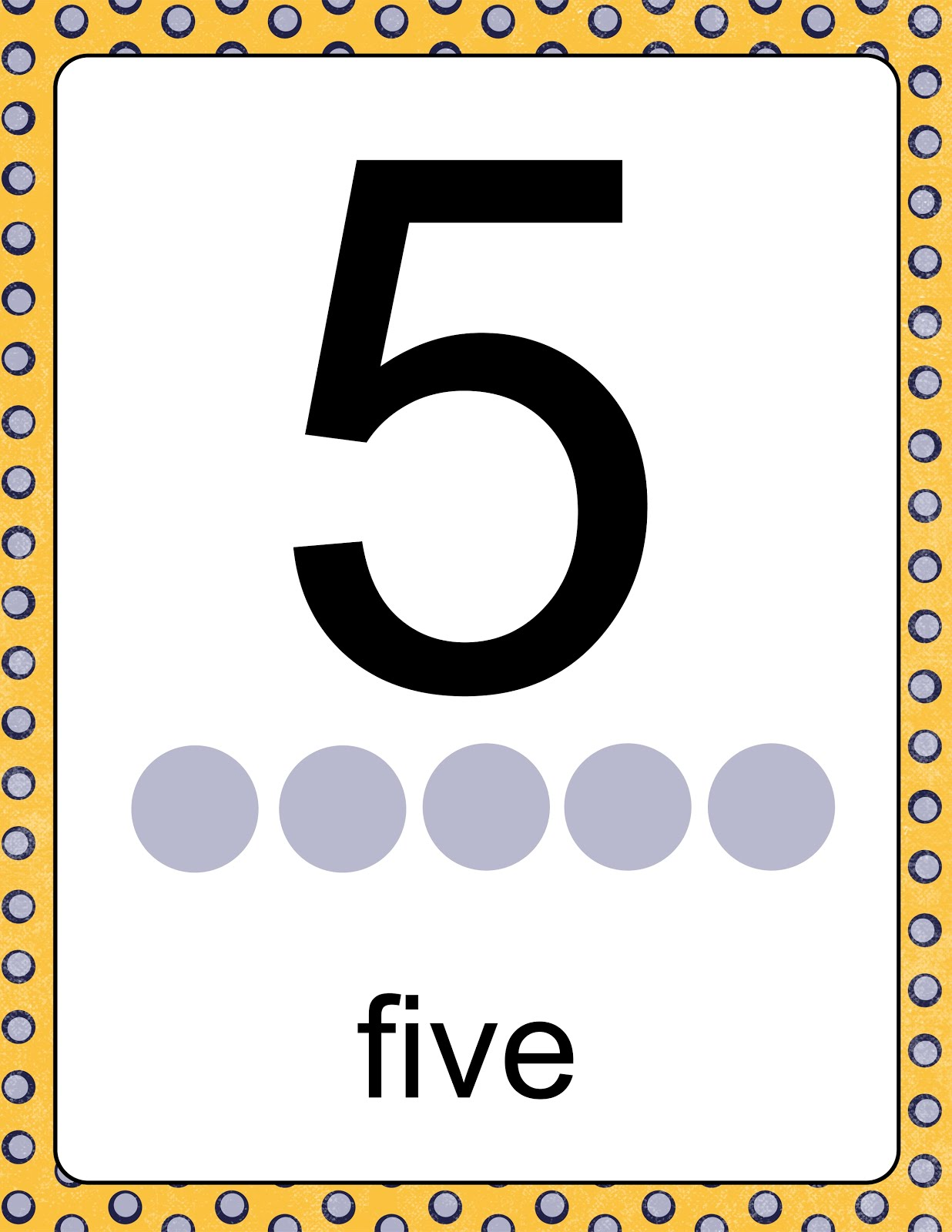 Little Stars Early Learning Number Posters With Counting Dots
