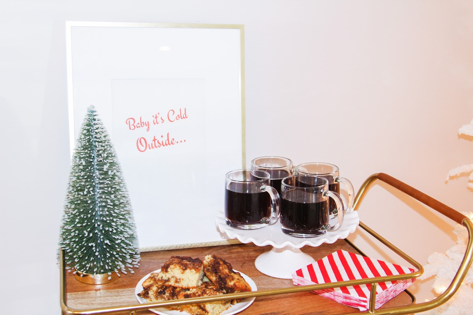 Holiday Christmas Coffee Cart Ideas and Party by Florida style blogger Celebration Stylist