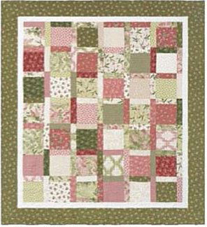 pink and green building blocks quilt