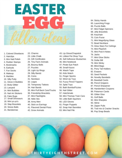 easter egg ideas, easter gift ideas, plastic easter egg ideas, easter egg hunt ideas, easter egg fillers, no candy easter eggs