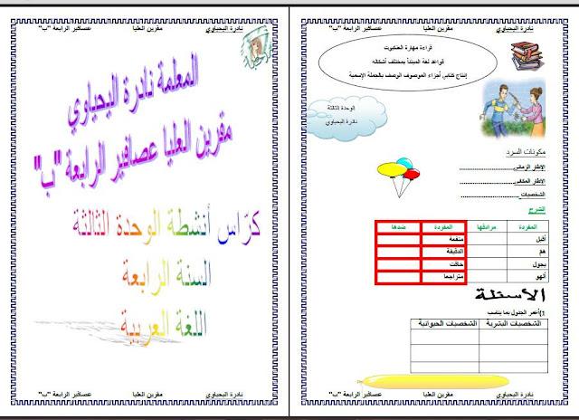 15327411 1339995132740720 4025204311505074249 n - كراس أنشطة الوحدة الثالثة لغة عربية س4