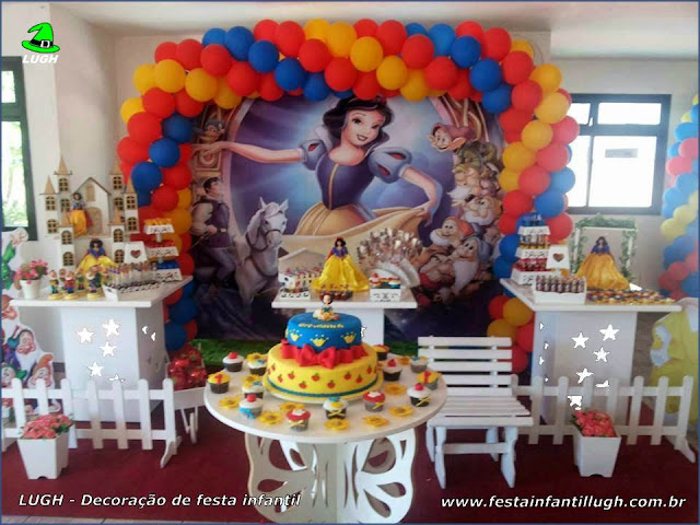 Decoração de aniversário infantil Branca de Neve - Provençal