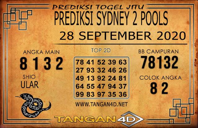 PREDIKSI TOGEL SYDNEY 2 TANGAN4D 28 SEPTEMBER 2020