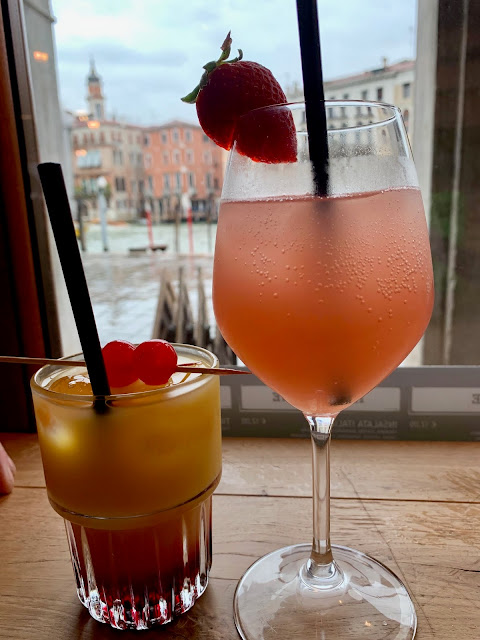 Peach Bellini and Tequila Sunrise in Venice
