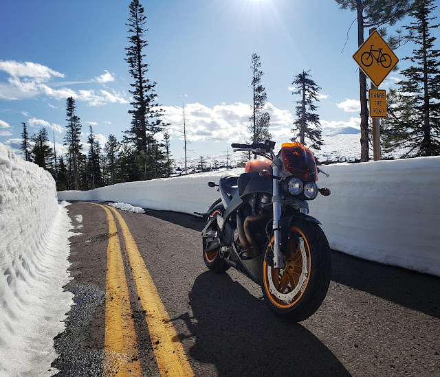 Buell XB12S Snowy Road Oregon Image by Toler Lance