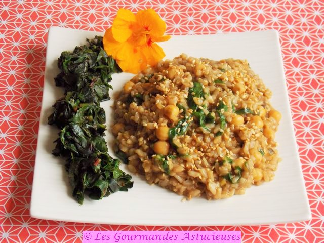 Risotto asiatique aux pois chiches (Vegan)