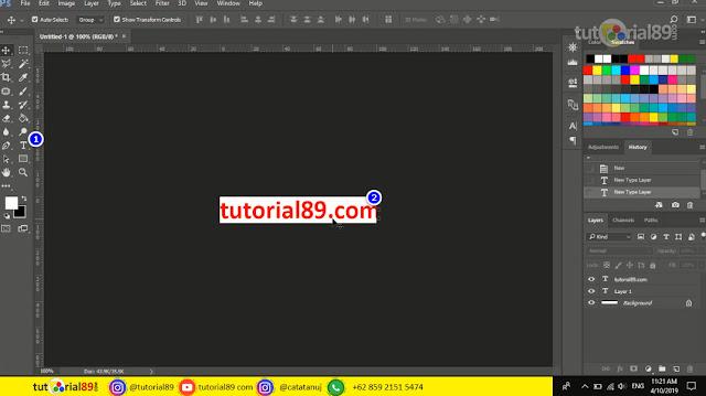 cara membuat tulisan berjalan di photoshop + video