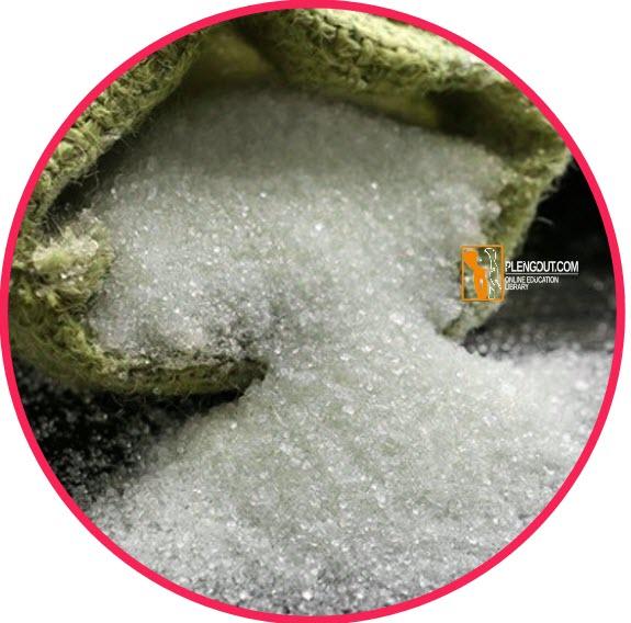 Pemanasan gula pasir dapat menghasilkan gas CO2 & uap air (H2O). Adanya gas CO2 dapat diidentifikasi dengan air kapur. Jika gas hasil pemanasan gula pasir dialirkan ke dalam air kapur, akan terjadi reaksi berikut.