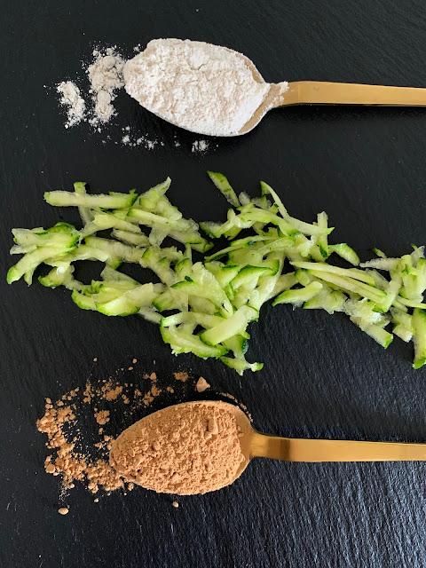 Zucchini-Schoko-Kuchen, Rezept, glutenfrei, vegan, schnell, einfach, Kuchen, salzig, vegetarisch