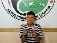 Muliono Alias Adek Diamankan Sat Narkoba Polres Madina Dengan Barang Bukti Narkoba Jenis Sabu