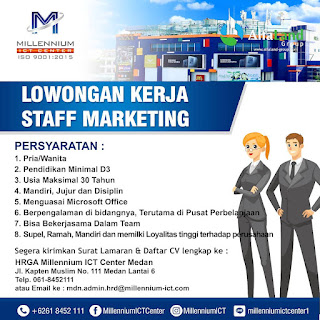 Staff Marketing di Millenium ICT Center