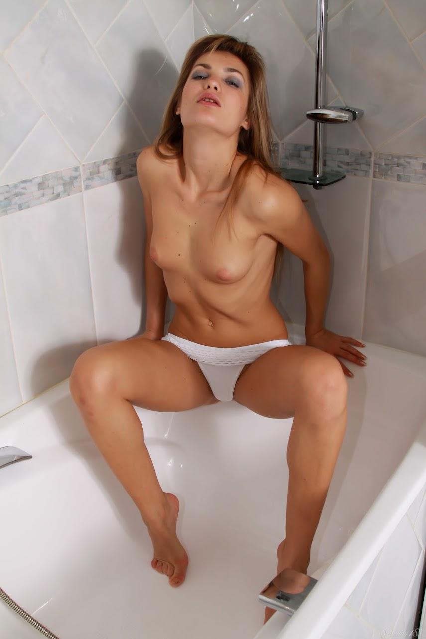 [Stunning18] Martina A - White Lingerie - Girlsdelta