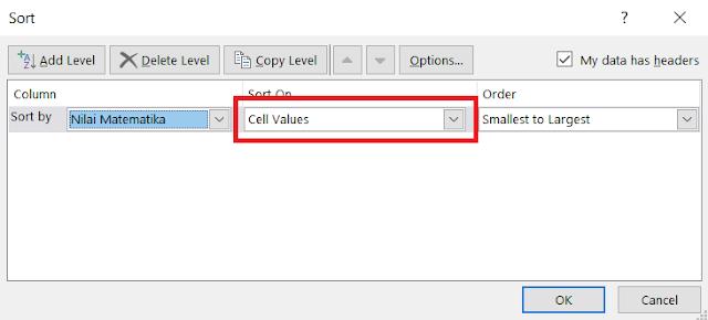 Cara Mengurutkan Angka dari Terbesar ke Terkecil atau Sebaliknya di Excel