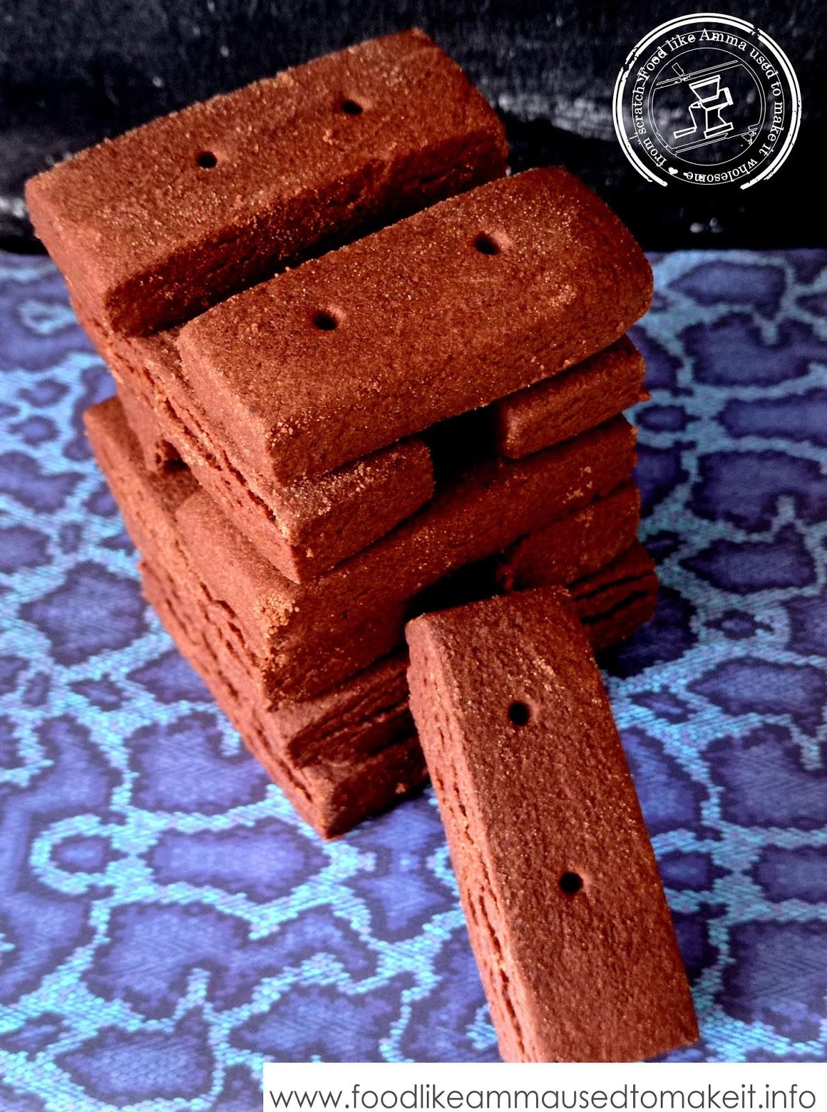 chocolate shortbread finger recipe
