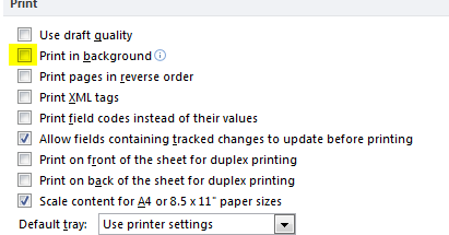 Michaels TechBlog Word 2010 Printing Is Very Slow