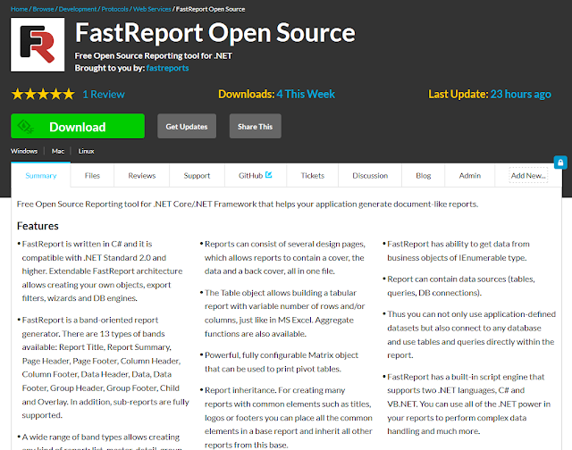 FastReport Open Source SourceForge