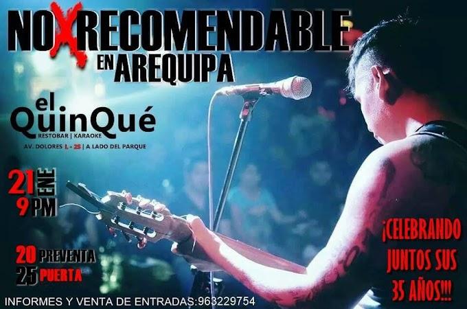 No Recomendable en Arequipa - 21 de enero