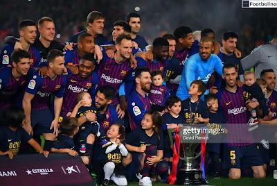 عدد ألقاب برشلونة في الدوري الإسباني