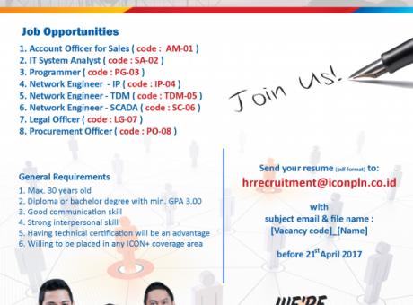 Lowongan Kerja PT Indonesia Comnets Plus (Icon+)