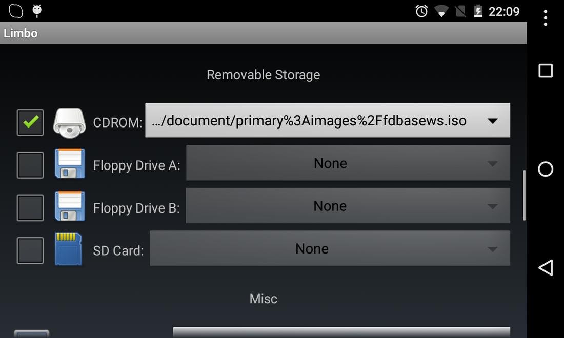 Limbo Pc EmulatorQEMU ARM x86  apk Run (Kali Linux Light and Windows
