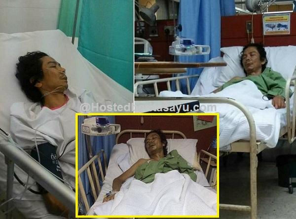 Foto terkini Mael Xpdc selepas tidak sedarkan diri..4 anaknya setiasa meneminya di Hospital (6 Gambar)