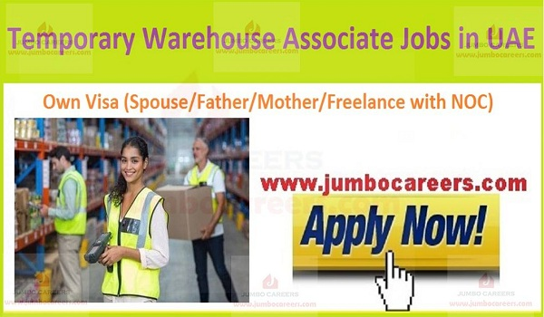 Current UAE ware house jobs,