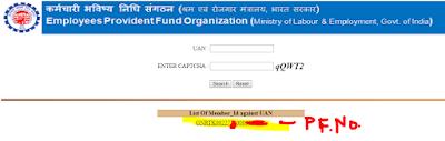 PF number UAN Claim Status