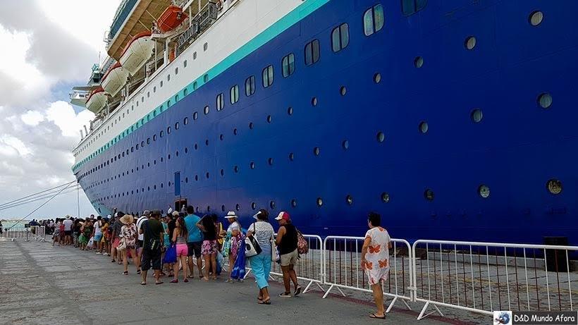 Retorno dos passageiros no porto de Aruba - Cruzeiros marítimos: tudo sobre viagem de navio