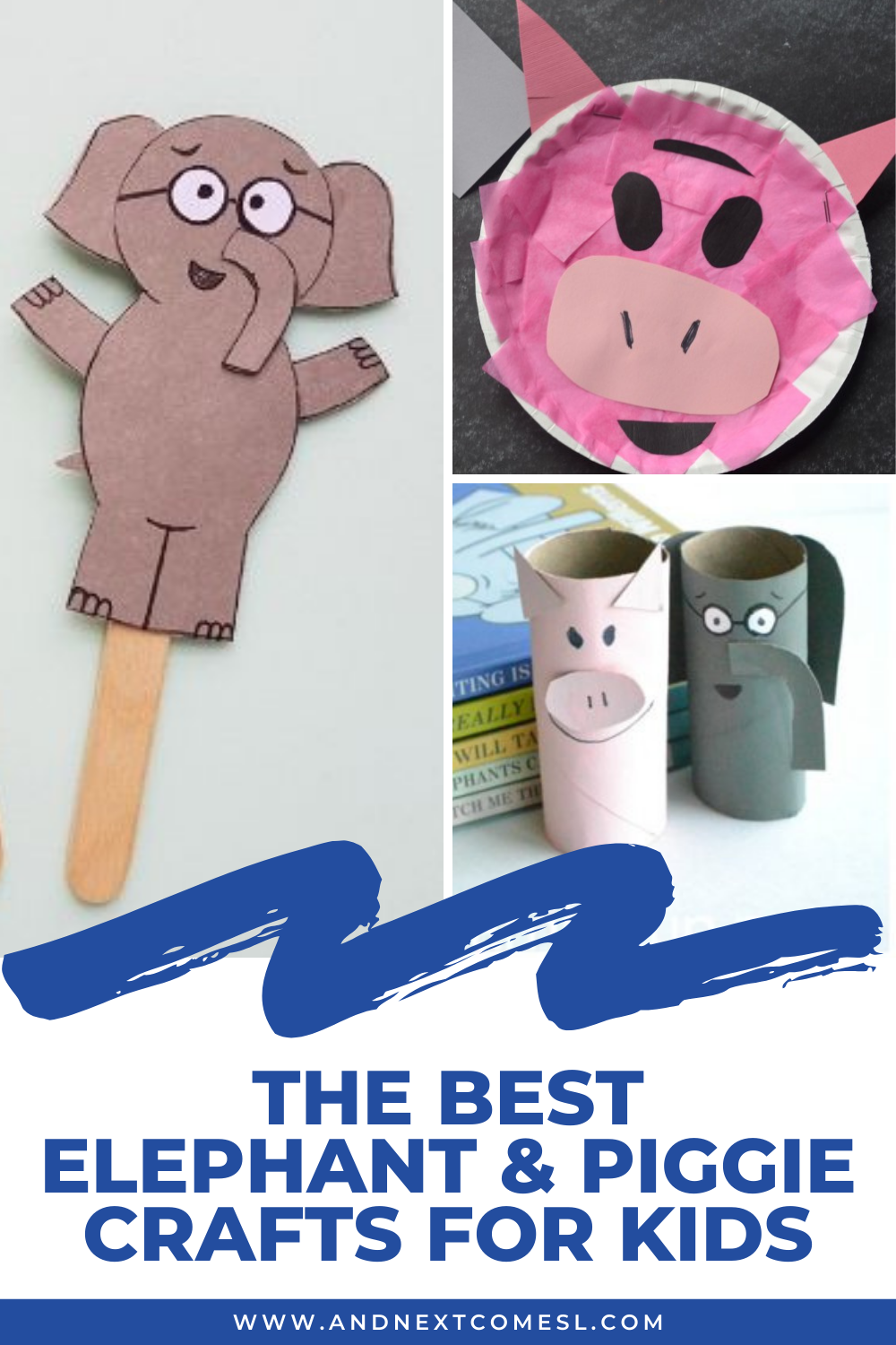 Awesome Elephant and Piggie crafts for kids inspired by Mo Willems' popular book series - you're going to love these ideas!
