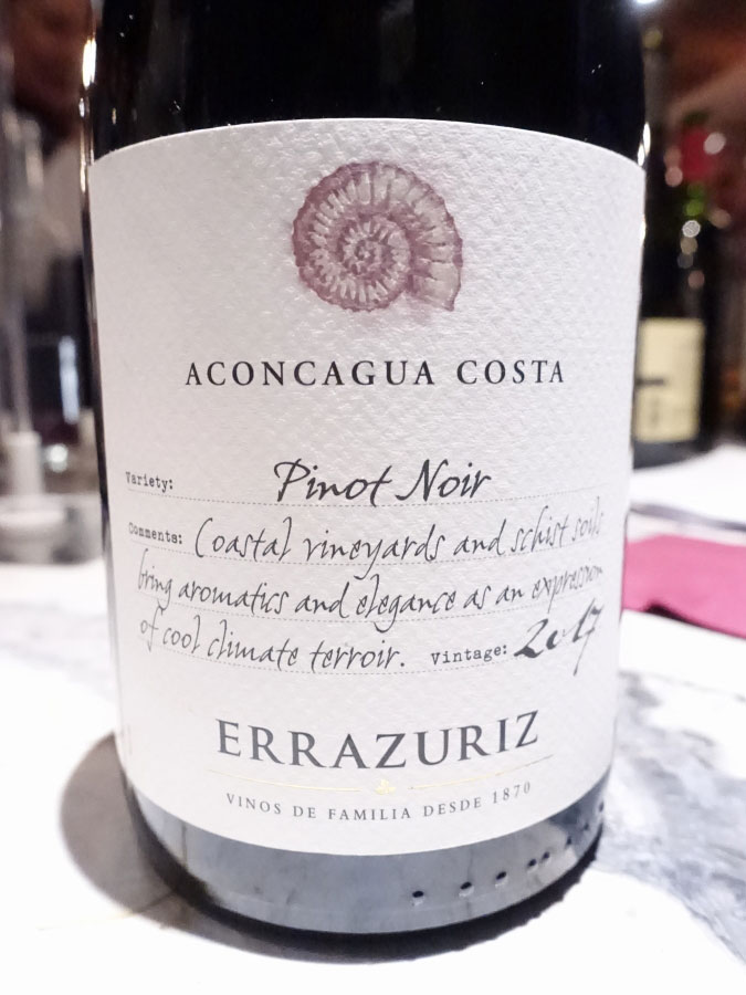 Errázuriz Aconcagua Costa Pinot Noir 2017 (90 pts)