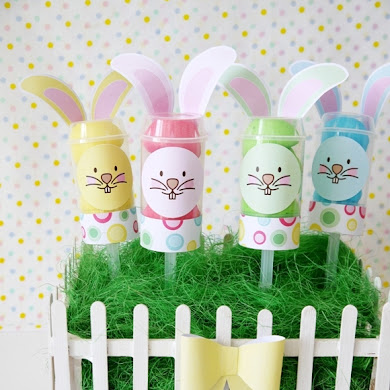 DIY Easter Bunny Push-up Pops Party Centerpiece