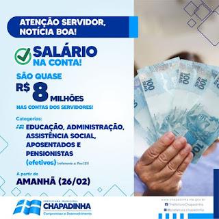 Salário na Conta! Prefeitura de Chapadinha-MA paga servidores nesta sexta-feira (26) e injeta quase 8 Milhões na economia do município