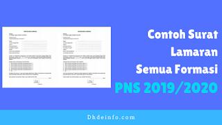 Contoh Surat Lamaran CPNS 2019 Semua Formasi