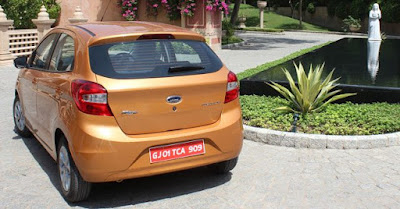 New Ford Figo 2016 rear look gold image