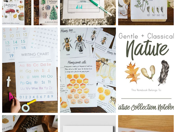 Home School Nature Printables Resources to Buy and for Free