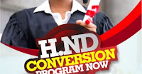 HND CONVERSION TO B.SC PROGRAMME IN NIGERIA