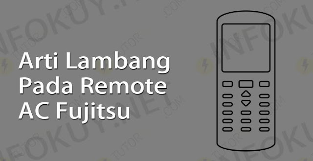 arti lambang pada remote ac fujitsu
