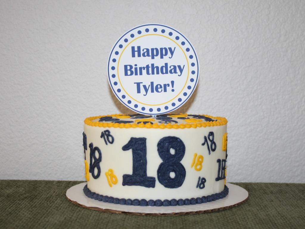 Party Cakes 18th Birthday Cake