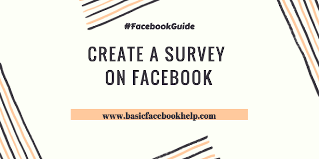 Create a survey on Facebook